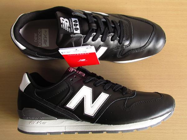 新品ニューバランスnew balance 996 軽量オール革レザー仕様 ブラック 黒 26.5cmレブライトM996スニーカー_画像6