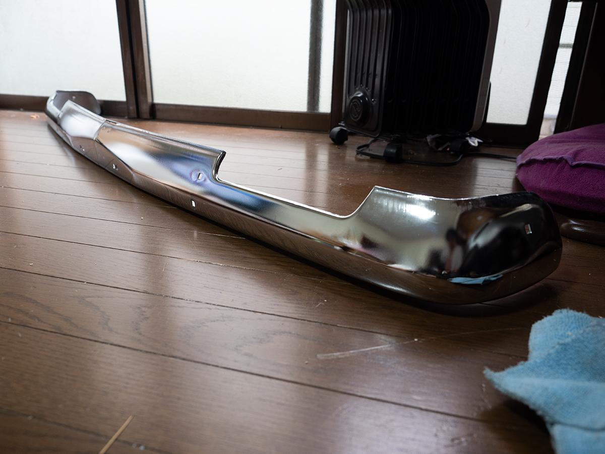 希少 B110 B120 サニー サニートラック 純正 メッキ フロントバンパー サニトラ_画像5