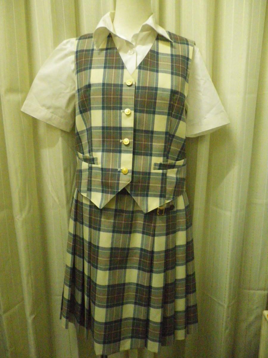 スコッチハウス ベスト スカート のセット 半袖ブラウス付 160サイズ フォーマル ブレザー お嬢様 (送料無料・匿名配送)