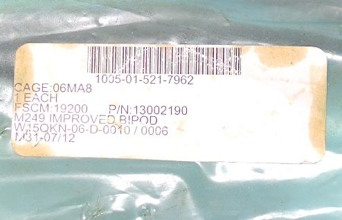 即決 実物 M249 MINIMI SAW Improved bipod ミニミ インプローブド バイポッド 二脚 インプルーブド バイポッド_画像4