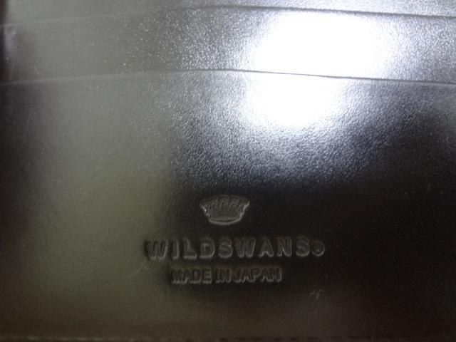 美品 WILDSWANS ワイルドスワンズ WINGS サドルN ブラック ベルギー牛革 ウォレット_画像4