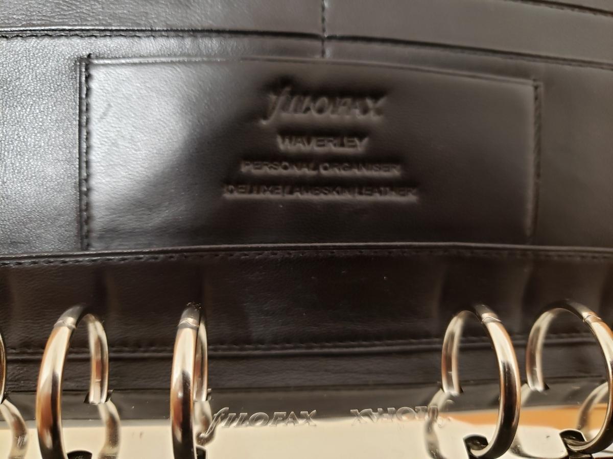【送料無料】ファイロファックス fILOFAX バイブル システム手帳 - ウェイバリー Waverley - ブラック 中古品_画像2