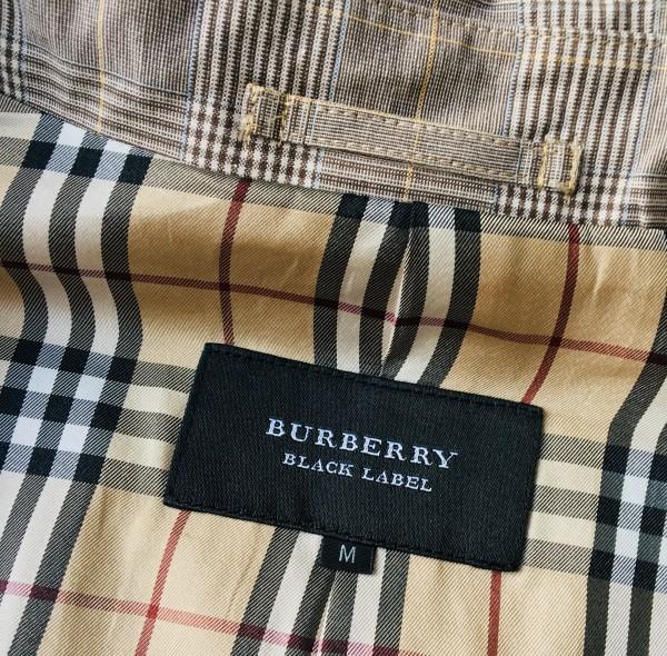 6707 バーバリーブラックレーベル グレンチェック ジャケット コート メンズ BURBERRY BLACKLABE ノバチェック Mサイズ 英国調ノバチェック_画像7