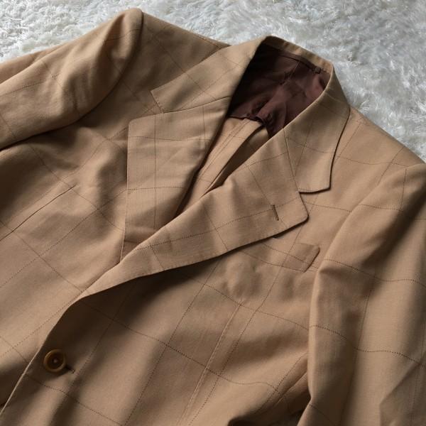 6726 美品 SOVEREIGN ソブリン セットアップ 48 ベージュ キャメル メンズ ユナイテッドアローズ M~L 最高級スーツ 英国調ペンチェック_画像3