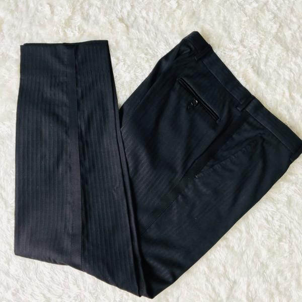 6732 美品 DOLCE&GABBANA ドルチェ&ガッバーナ ドルガバ セットアップ スーツ 黒 ストライプ イタリアンスーツ ブラック シルクタッチ_画像10