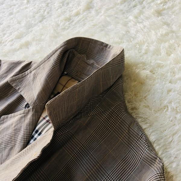 6707 バーバリーブラックレーベル グレンチェック ジャケット コート メンズ BURBERRY BLACKLABE ノバチェック Mサイズ 英国調ノバチェック_画像5