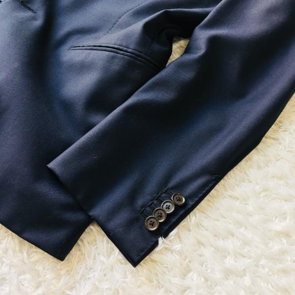 6689 新品同様 トゥモローランドxゼニア トロフェオ tomorrowland Zegna TROFEO メンズ シングル ネイビー スーツ 未使用に近い M~L_画像5