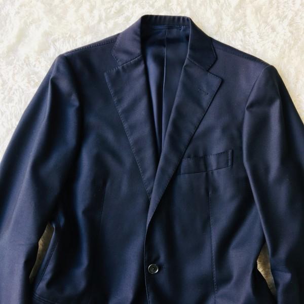 6689 新品同様 トゥモローランドxゼニア トロフェオ tomorrowland Zegna TROFEO メンズ シングル ネイビー スーツ 未使用に近い M~L_画像3
