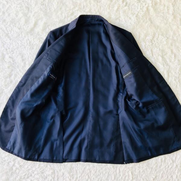 6689 新品同様 トゥモローランドxゼニア トロフェオ tomorrowland Zegna TROFEO メンズ シングル ネイビー スーツ 未使用に近い M~L_画像7