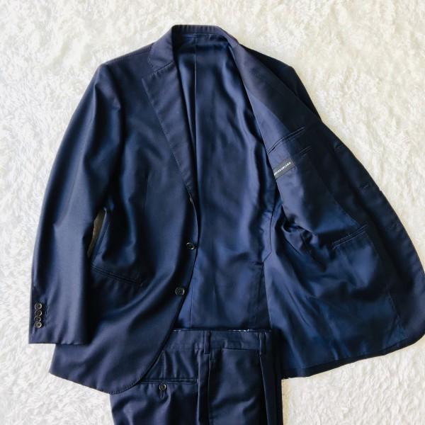 6689 新品同様 トゥモローランドxゼニア トロフェオ tomorrowland Zegna TROFEO メンズ シングル ネイビー スーツ 未使用に近い M~L_画像2