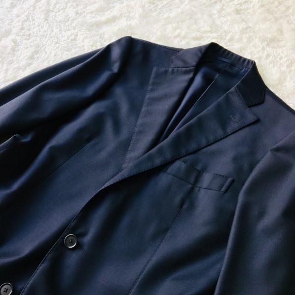 6689 新品同様 トゥモローランドxゼニア トロフェオ tomorrowland Zegna TROFEO メンズ シングル ネイビー スーツ 未使用に近い M~L_画像4