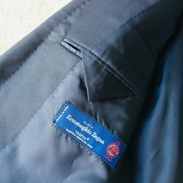 6689 新品同様 トゥモローランドxゼニア トロフェオ tomorrowland Zegna TROFEO メンズ シングル ネイビー スーツ 未使用に近い M~L_画像9
