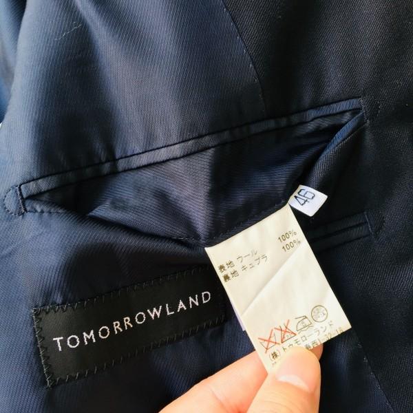6689 新品同様 トゥモローランドxゼニア トロフェオ tomorrowland Zegna TROFEO メンズ シングル ネイビー スーツ 未使用に近い M~L_画像10