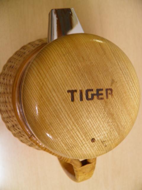 ★稀★ タイガー魔法瓶 天然素材の籐使用 PSJ-1001 1.04/昭和レトロ/キッチン/雑貨_画像8