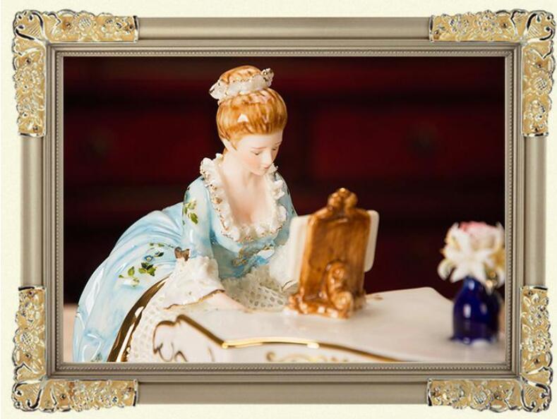 ピアノを弾く女性像■インテリア置物 西洋彫刻オブジェ雑貨飾り 北欧陶器装飾 彫刻エレガントデザイ 家具ホームデコ 芸術雑貨家具 Goo-A_画像9