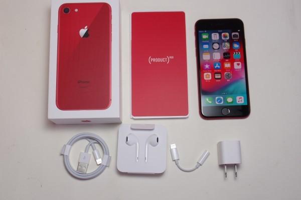 Apple iPhone8 プロダクトレッド 256GB SIMフリー おまけ付き 送料無料_画像2