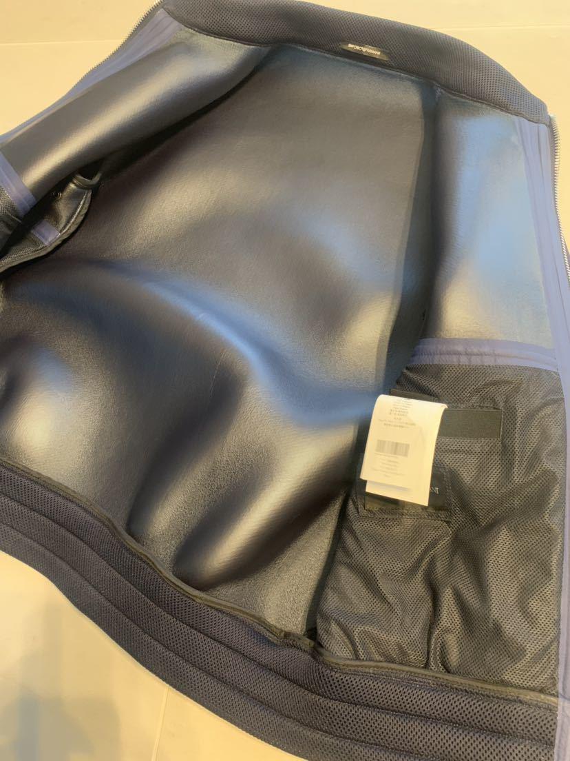 新品エンポリオアルマーニ  夏用 メッシュ ライダースブルゾン サイズ50 XL_画像4