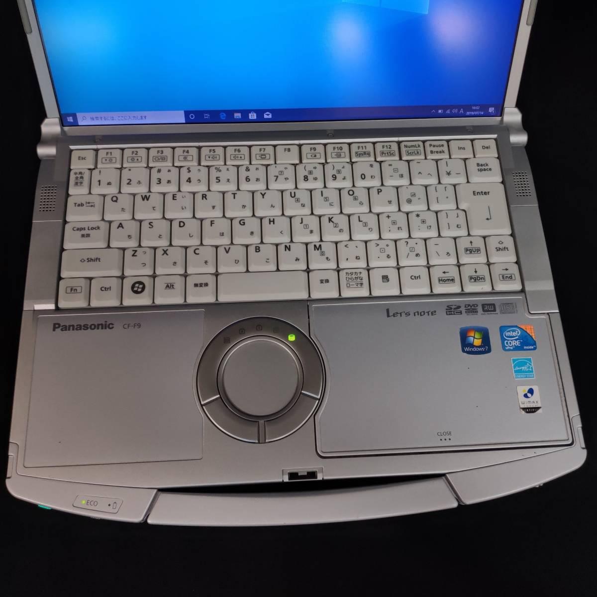 B14m12H Panasonic ノートパソコン レッツノート CF-F9 Let's note Windows10 Pro Core i5 メモリ4GB F9 CF-F9LWFJDS _画像3