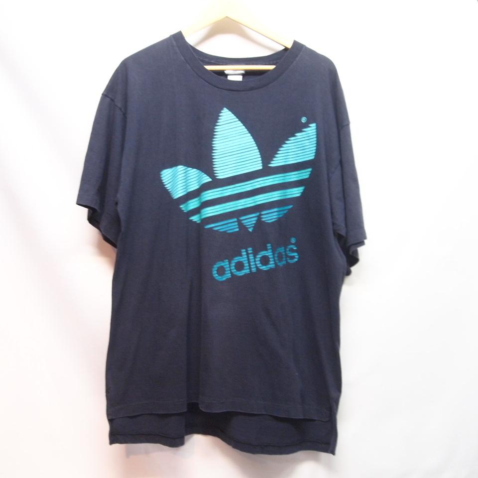 [M] 90s adidas プリント Tシャツ USA製 アディダス トレフォイル ビンテージ vintage 90年代_画像1