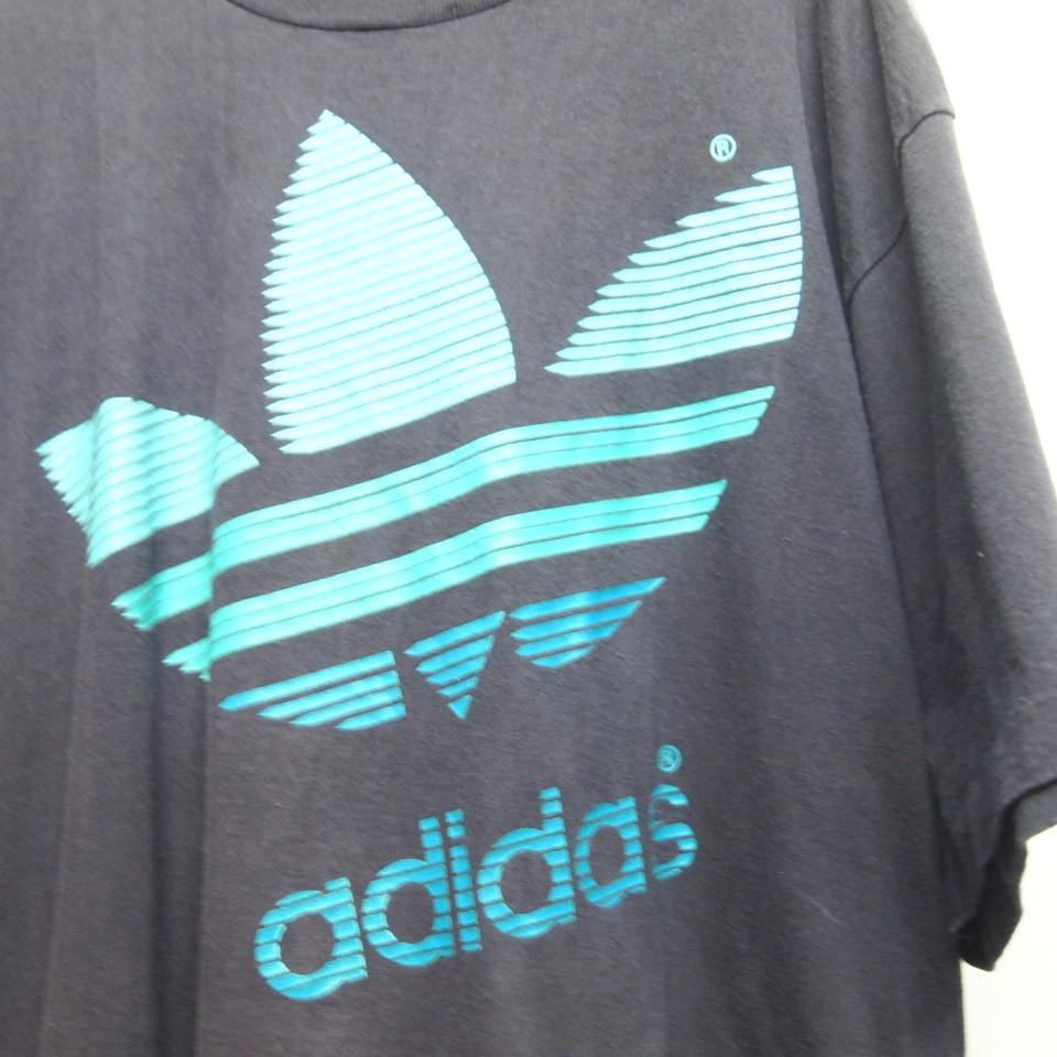 [M] 90s adidas プリント Tシャツ USA製 アディダス トレフォイル ビンテージ vintage 90年代_画像3