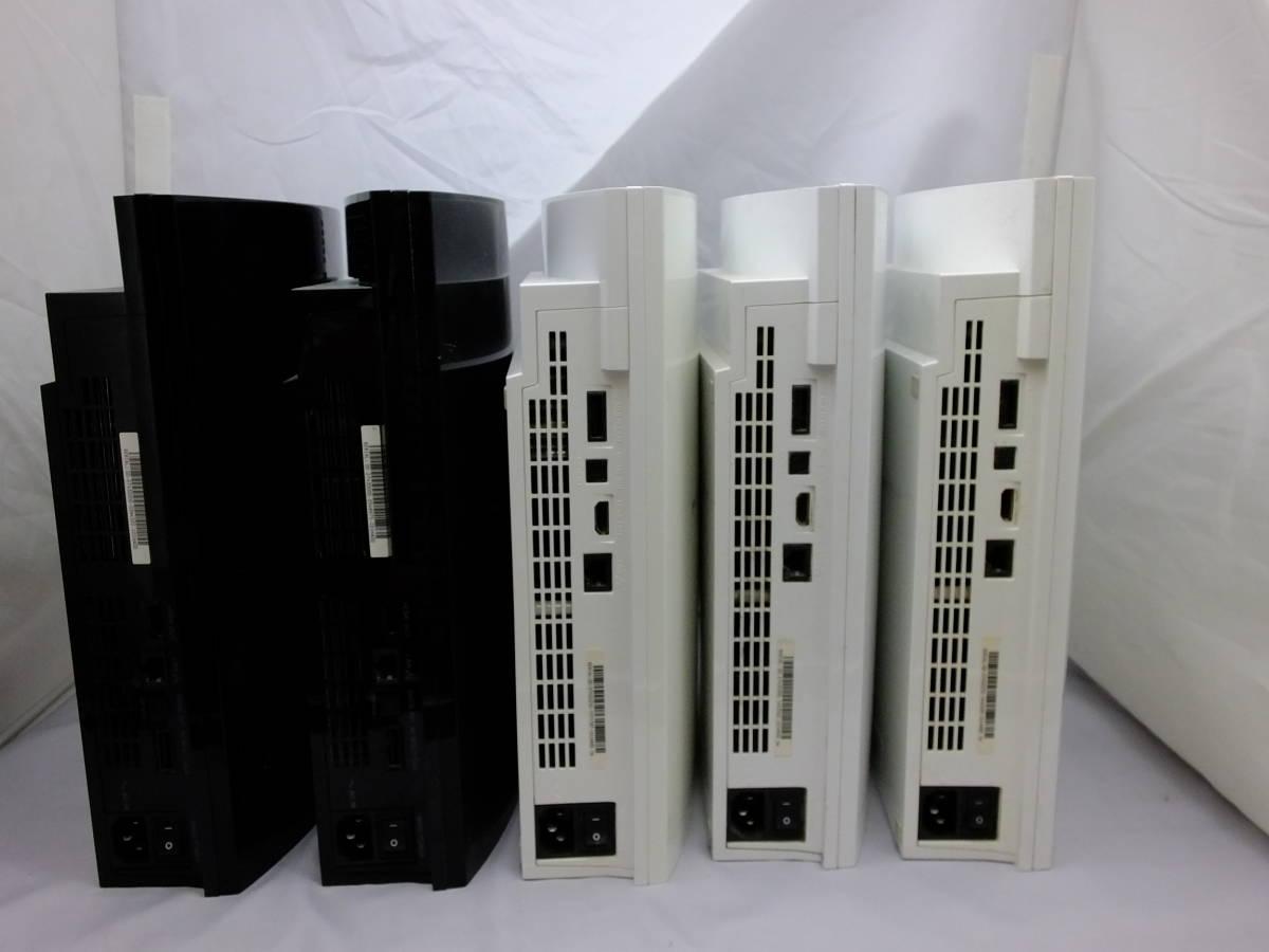 25_K799)[ジャンク]PS3本体 厚型 初期型 CECHA00 CECHH00 合計5台 まとめ売り