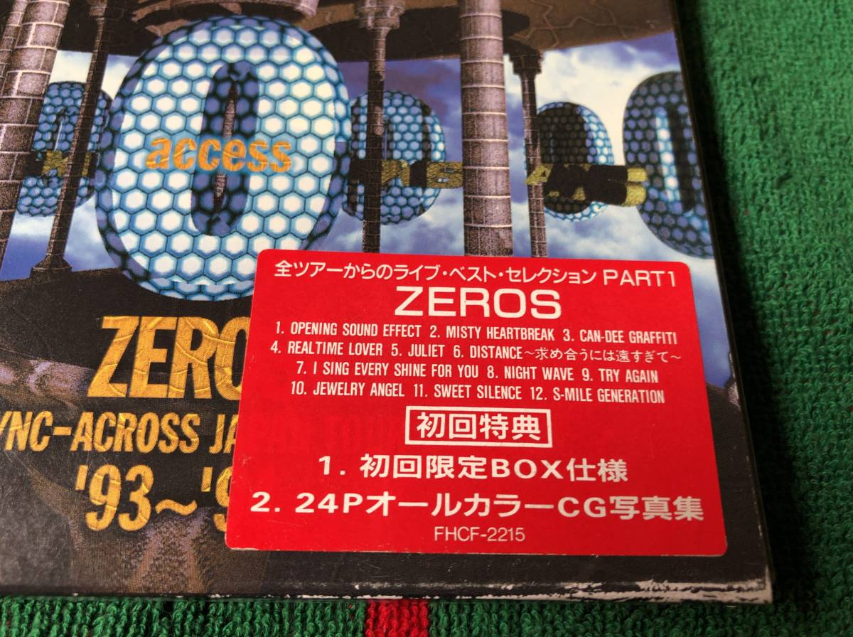 access/LIVE ZEROS 中古CD 初回限定盤 アクセス AXS 貴水博之 浅倉大介_画像2