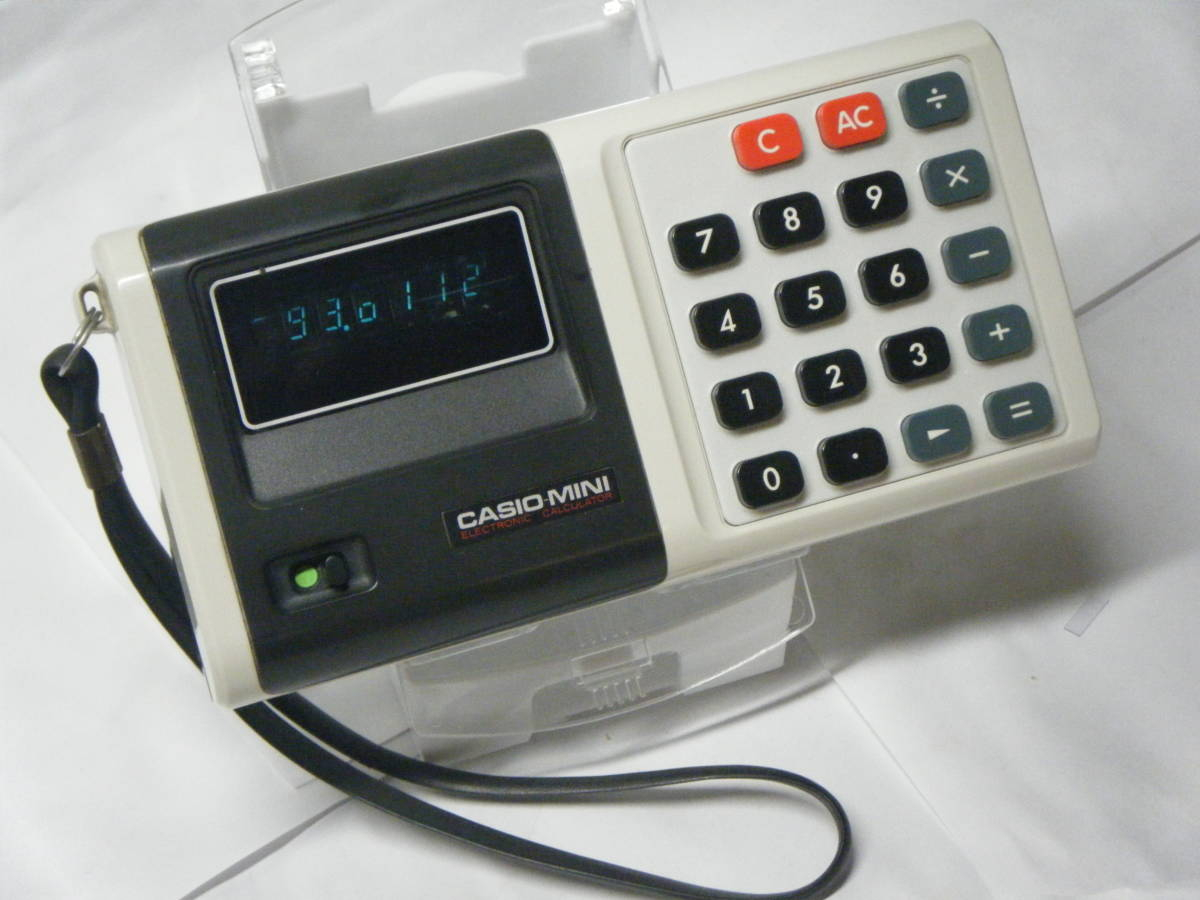 CASIO 電卓 「CASIO-MINI」CM-604 昭和レトロ 計算機 蛍光管表示 アンティーク VFD表示 古い_画像1