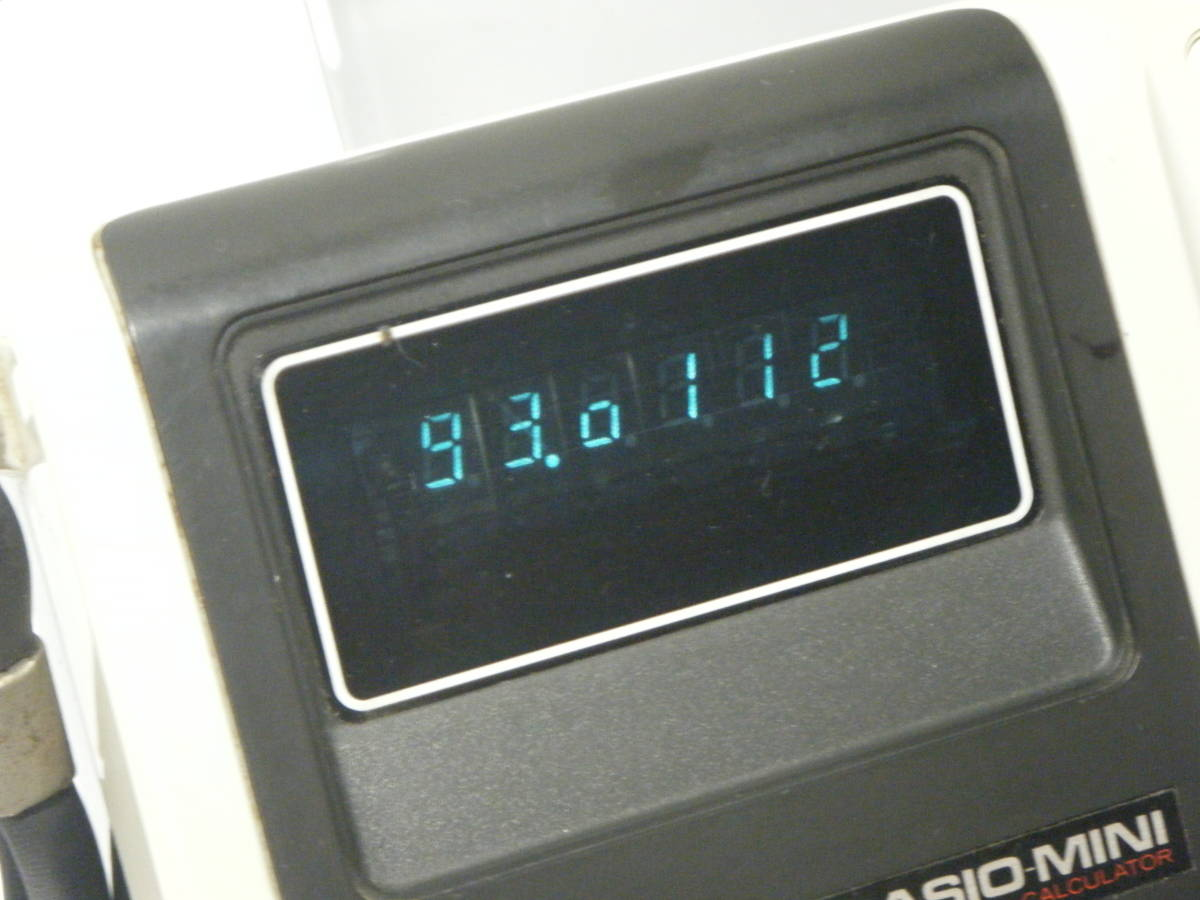 CASIO 電卓 「CASIO-MINI」CM-604 昭和レトロ 計算機 蛍光管表示 アンティーク VFD表示 古い_画像2
