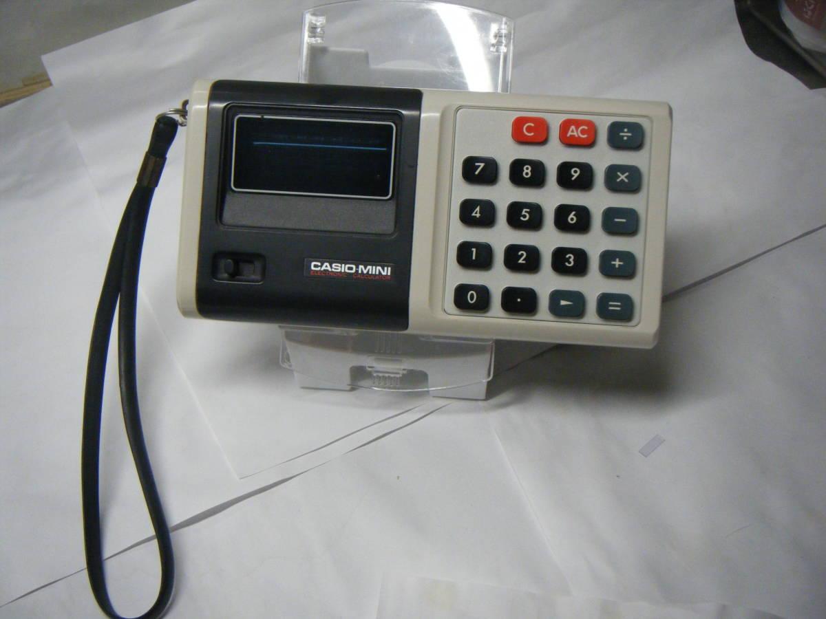 CASIO 電卓 「CASIO-MINI」CM-604 昭和レトロ 計算機 蛍光管表示 アンティーク VFD表示 古い_画像3
