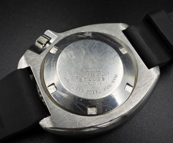 ●即納 送料無料●希少★交換部品付属★70年代 SEIKO セイコー セカンドダイバー 6105-8110 植村直己モデル 150m ビンテージ メンズ 腕時計_画像5