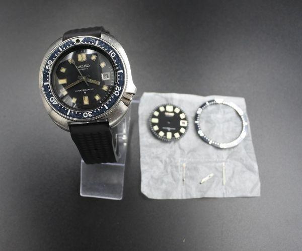 ●即納 送料無料●希少★交換部品付属★70年代 SEIKO セイコー セカンドダイバー 6105-8110 植村直己モデル 150m ビンテージ メンズ 腕時計_画像9