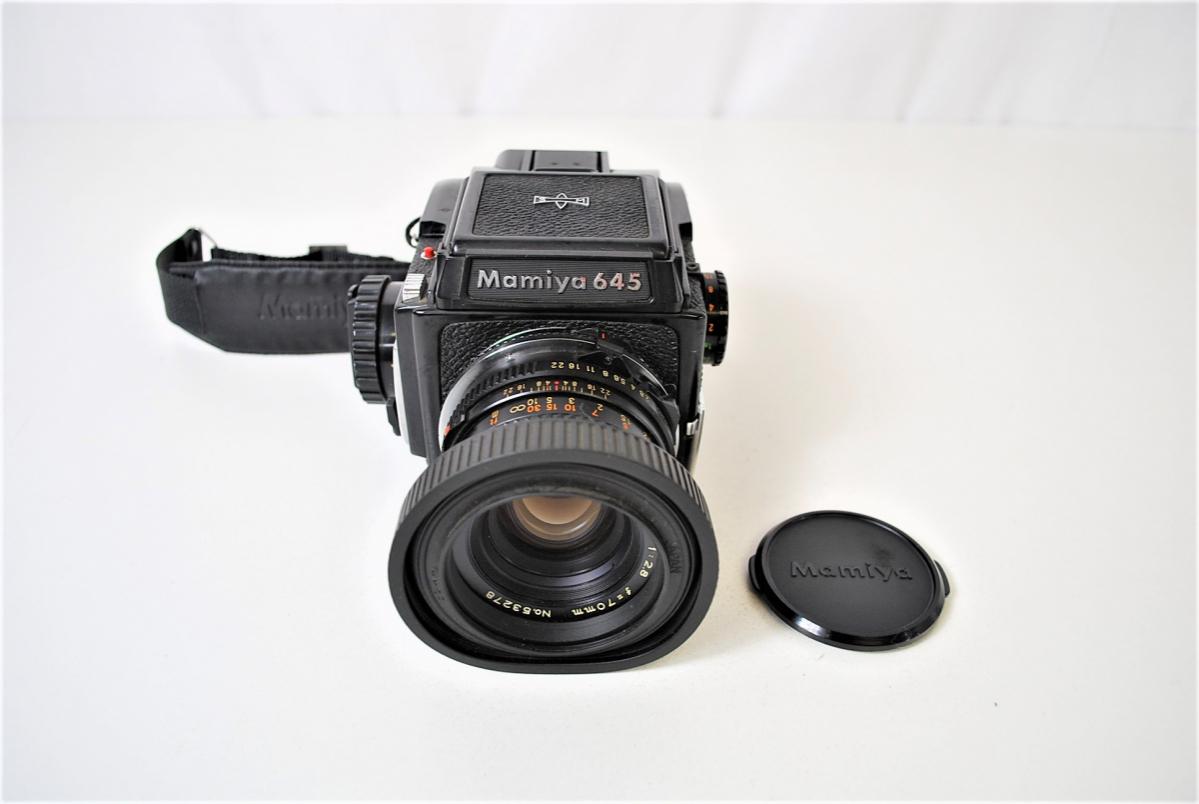 03KFN 【美品】 mamiya 645 マミヤ M645 1000S MAMIYA-SEKOR C 80mm 1:2.8 f=70mm No.53278 中判カメラ フィルムカメラ レトロ _画像2