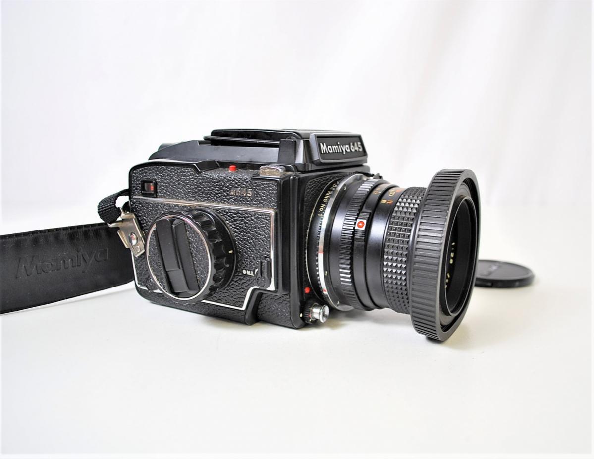 03KFN 【美品】 mamiya 645 マミヤ M645 1000S MAMIYA-SEKOR C 80mm 1:2.8 f=70mm No.53278 中判カメラ フィルムカメラ レトロ _画像4