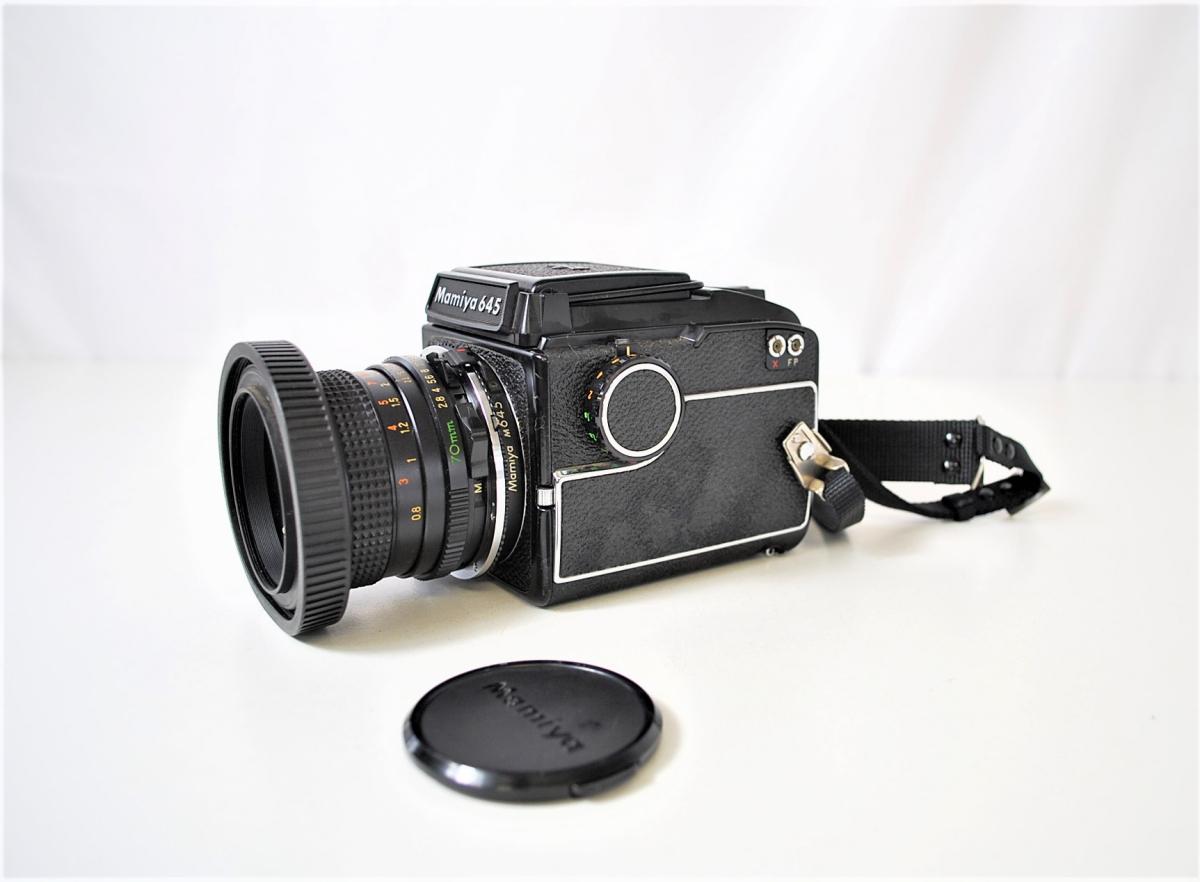 03KFN 【美品】 mamiya 645 マミヤ M645 1000S MAMIYA-SEKOR C 80mm 1:2.8 f=70mm No.53278 中判カメラ フィルムカメラ レトロ _画像3