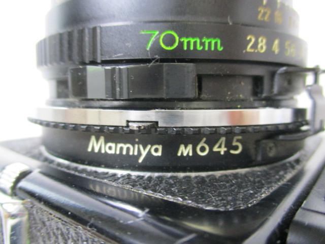 03KFN 【美品】 mamiya 645 マミヤ M645 1000S MAMIYA-SEKOR C 80mm 1:2.8 f=70mm No.53278 中判カメラ フィルムカメラ レトロ _画像8