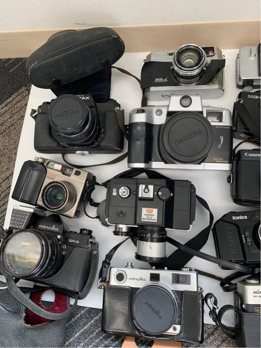 カメラ まとめ売り 17台 konica ヤシカ minolta 等 コンパクトカメラ 一眼レフ+オマケ付き_画像2