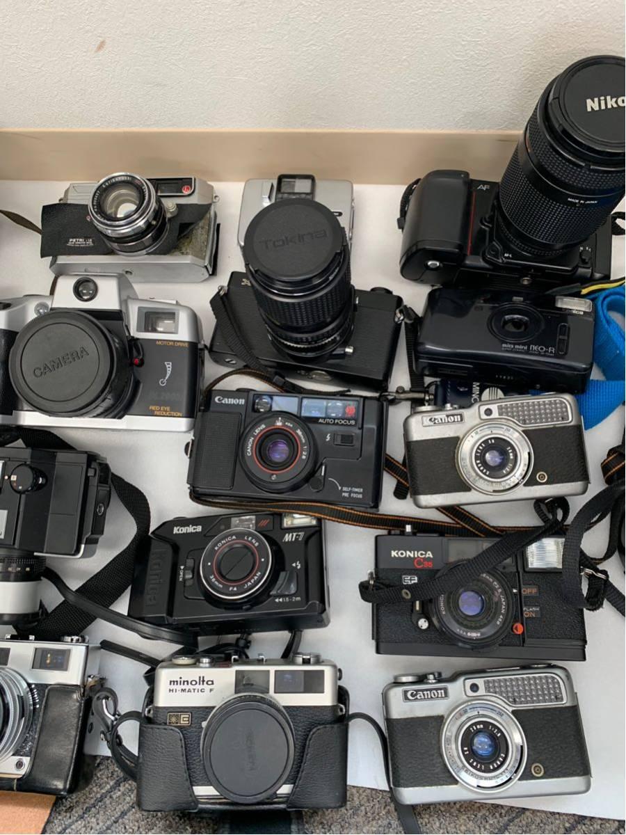 カメラ まとめ売り 17台 konica ヤシカ minolta 等 コンパクトカメラ 一眼レフ+オマケ付き_画像3