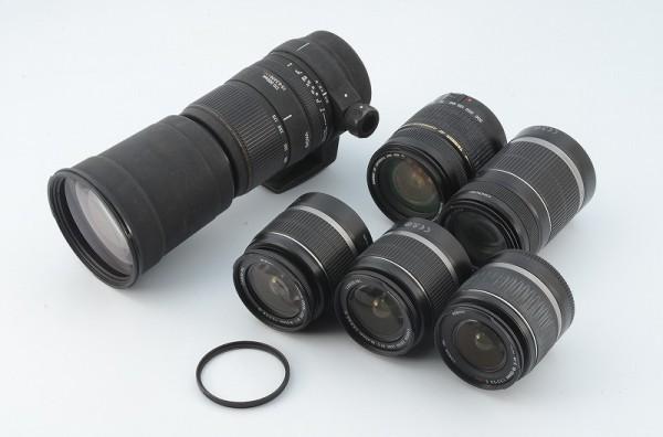 *一円出品売り切り!* 大量 まとめて 6本 Canon キャノン Sigma シグマ Tamron タムロン AFレンズ EF/EOS マウント用 #413