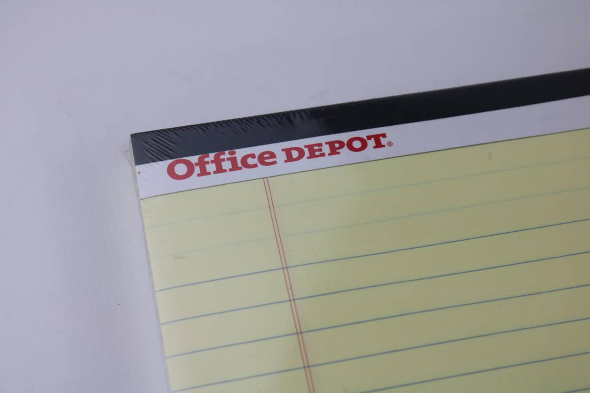 新品未使用 オフィス・デポ レポート用紙 ライティングパッド レターサイズ イエロー 10点まとめて_画像4