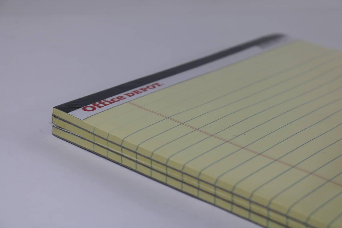 新品未使用 オフィス・デポ レポート用紙 ライティングパッド レターサイズ イエロー 10点まとめて_画像5