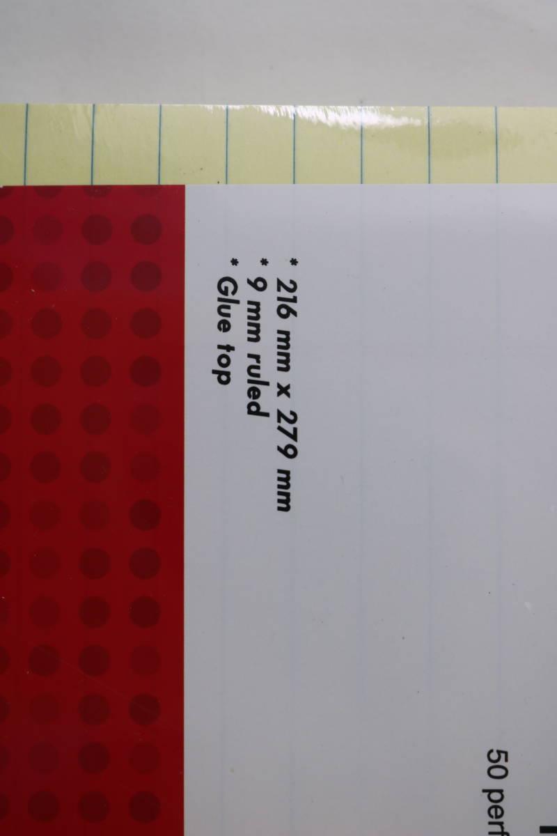 新品未使用 オフィス・デポ レポート用紙 ライティングパッド レターサイズ イエロー 10点まとめて_画像7