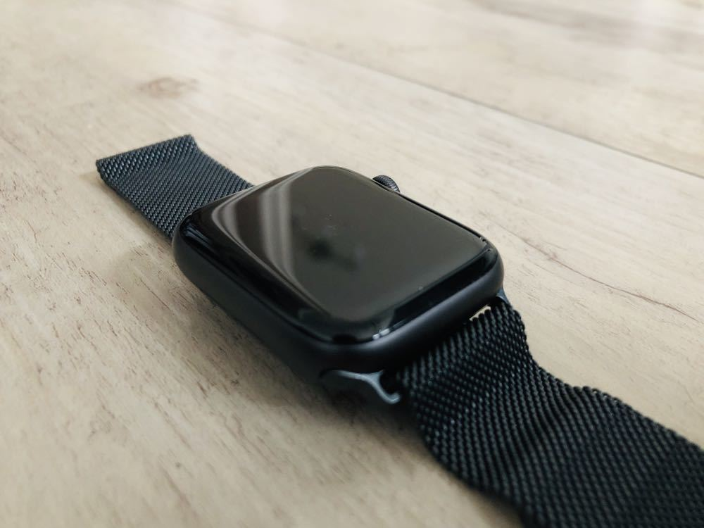 【新品同様】Apple Watch 4 cellular 44mm スペースグレイ ミラネーゼループ バンド付き(38 40 42 アップルウォッチ_画像4