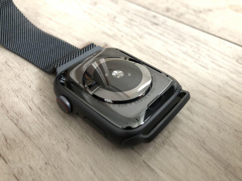 【新品同様】Apple Watch 4 cellular 44mm スペースグレイ ミラネーゼループ バンド付き(38 40 42 アップルウォッチ_画像5
