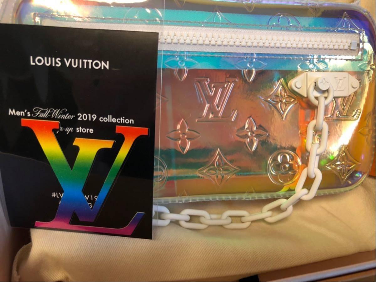 非売品ノベルティー付き 19AW ポップアップ限定 ヴィトン プリズム ポシェット ヴォルガ LOUIS VUITTON VOLGA ポーチ ヴァージル