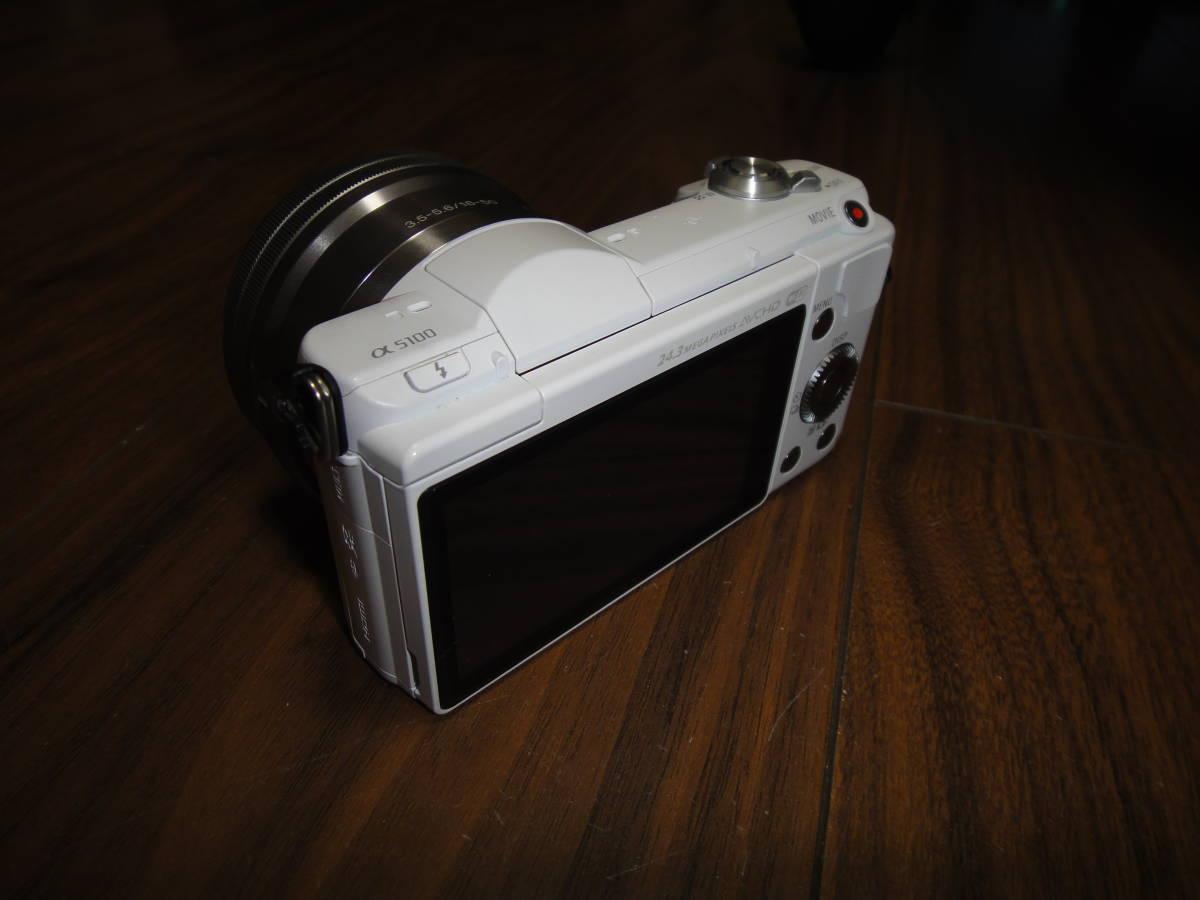 ソニー SONY α5100 ILCE-5100 人気のホワイト Power Zoom Lens Kit 美品_画像3