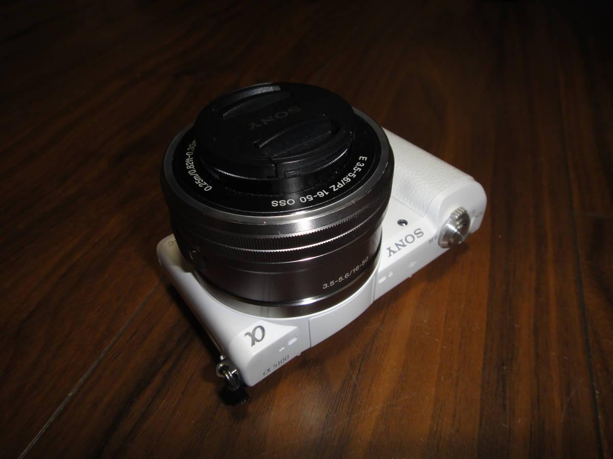 ソニー SONY α5100 ILCE-5100 人気のホワイト Power Zoom Lens Kit 美品_画像7
