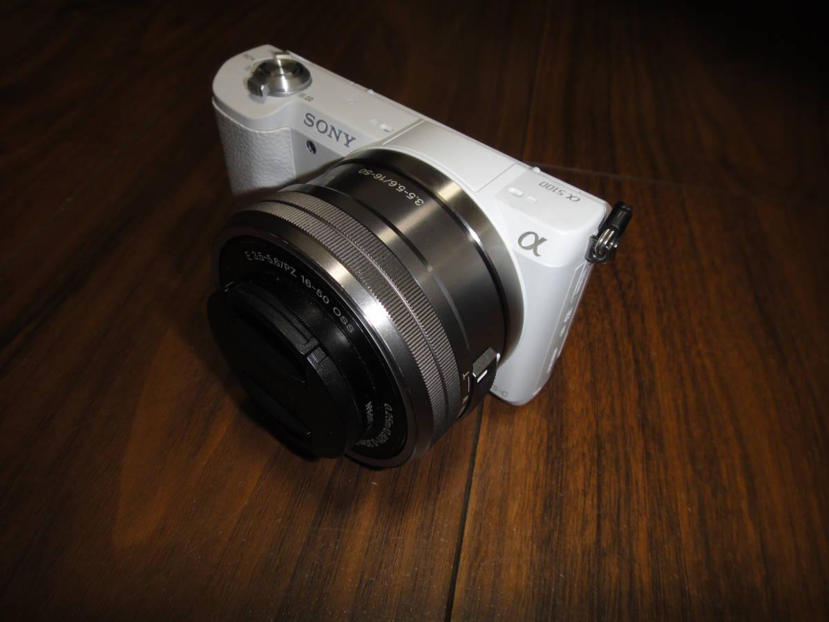 ソニー SONY α5100 ILCE-5100 人気のホワイト Power Zoom Lens Kit 美品_画像2