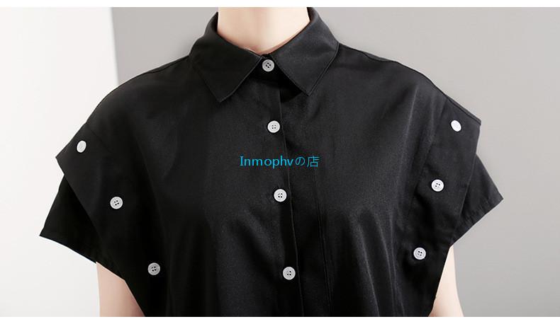 新品登場☆欧米スタイル 特別デザイン シャツ ボタン スタイリッシュ ゆったり Fサイズ カラー選択可 MHBD_画像6