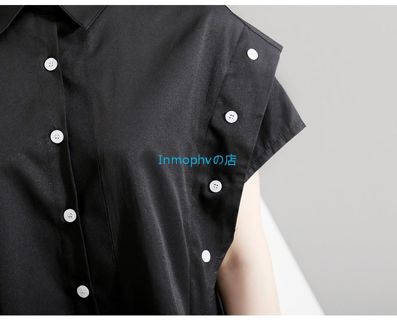 新品登場☆欧米スタイル 特別デザイン シャツ ボタン スタイリッシュ ゆったり Fサイズ カラー選択可 MHBD_画像7