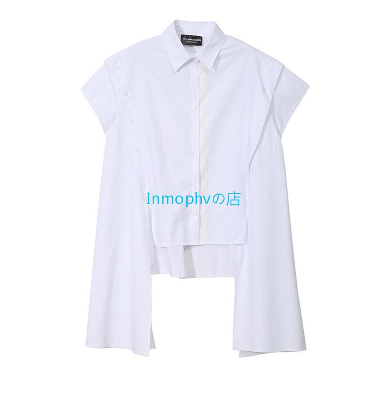 新品登場☆欧米スタイル 特別デザイン シャツ ボタン スタイリッシュ ゆったり Fサイズ カラー選択可 MHBD_画像10